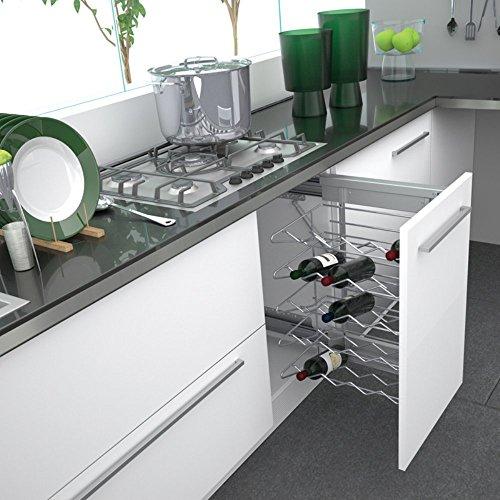 Rev-A-Shelf Rev-A-Shelf Wine Base Organizer, Chrome, Chrome Wire