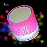 Store Online Bring Glose Pink Led Light Bluetooth Bass Speaker Compatible With Micro Sd Card/mobiles/tablets/laptop...