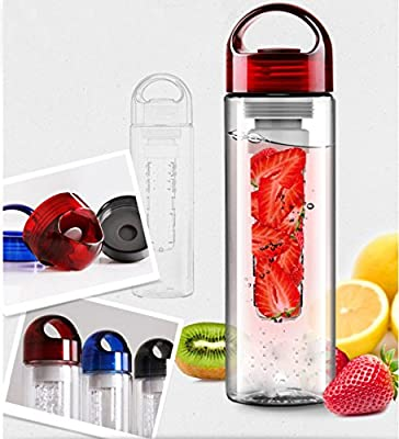 LAPTONE 800mL Mode Kunststoff Sportflasche Trinkflasche Bottle Infusion Infuser Transparenz mit Filter fuer ObstzusÅ tze GetrÅ nk Fruit Juice