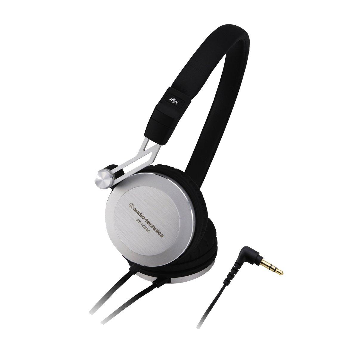 audio-technica EARSUIT 密閉型オンイヤーヘッドホン ポータブル アルミハウジング ATH-ES88