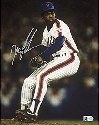 Doc Gooden New York Mets Autographed 8'' x 10'' Vertical Throw Blue long Sleeve Photograph - Fanatics Authentic Certified