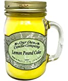 Lemon Pound Cake Scented 13 oz Mason Jar Candle - Made in the USA by Our Own Candle Company