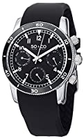 SO&CO York Men's 5018B.1 Yacht Club Analog Display Analog Quartz Black Watch by SO&CO New York