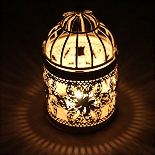 Creative Candela Lanterne Porta Candela in Metallo, Stile Marocchino, Candeliere portacandela da tavolo per matrimoni o festival Decor B