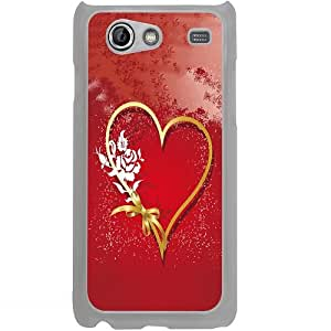 Casotec Love Rose Design 2D Hard Back Case Cover for Samsung Galaxy S Advance i9070 - Clear