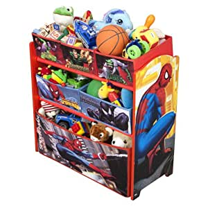 Spiderman Multi-Bin Toy Organizer
