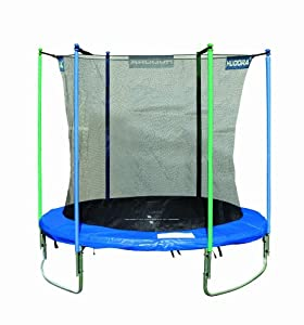hudora trampoline with safety net 8ft. Black Bedroom Furniture Sets. Home Design Ideas