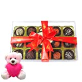 Glorious Collection Of Chocolates Gift Box With Teddy - Chocholik Luxury Chocolates