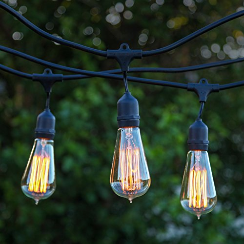Nostalgic Outdoor String Lights : Brightech - Ambience Pro Vintage Edition Outdoor Commercial String Lights with Nostalgic Edison ...