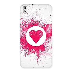 Impressive Heart Splash Multicolor Back Case Cover for HTC Desire 816