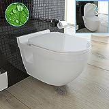 Weiss Wand Hänge WC / Keramik / Tiefspüler / Design...
