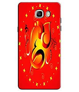 EU4IA Lord Ganesha Pattern MATTE FINISH 3D Back Cover Case For GALAXY C7 - D319