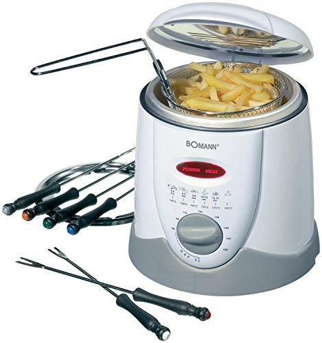 Bomann-FFR-1290-CB-Freidora-y-fondue-capacidad-1-l-6-tenedores-de-fondue-900-W-color-blanco-y-gris