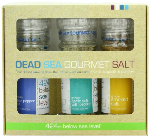 Salt 424 Three Grinder Pack 100% Organic Salts,
