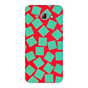 Green Red Print Back Case Cover for Galaxy A8