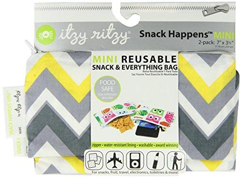 itzy-ritzy-snack-happens-lot-de-2-sacs-a-dejeuner-reutilisables-motif-chevrons