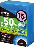 TDK Blu-ray用 省スペース収納ケース 15枚収納ブックタイプ クリアブルー CASE-BDB15BL1A