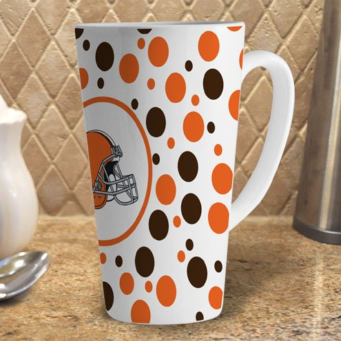 Nfl Cleveland Browns 16-Ounce White Latte Mug