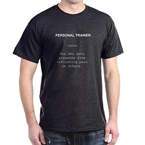 CafePress Personal Trainer noun Dark T-Shirt - L Charcoal