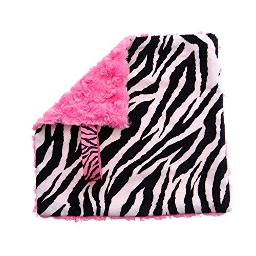 BBEmerald Baby Pacifier Blanket, Pink Zebra - 1