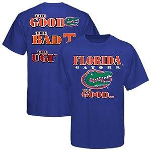 NCAA Florida Gators Royal Blue Good Bad & Ugly T-shirt (XXX-Large)