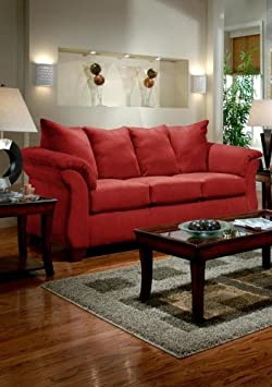 Chelsea Home Furniture Payton Sofa, Red Brick