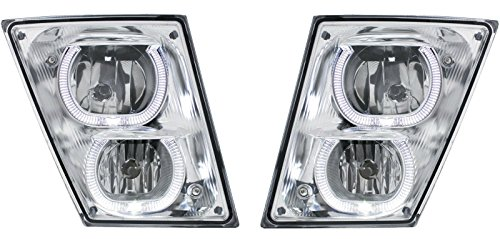 CPW (tm) 2003-2012 Volvo VN VNL Series Truck CHROME HALO Fog Light Pair New Left + Right (Volvo Semi Fog Lights compare prices)