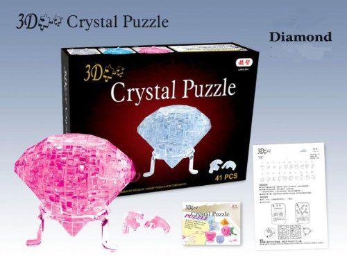 Cheap Sunday's Toy 3D Jigsaw Puzzle, Cube Crystal Puzzle – Pink Diamond, Gift Ideas (B004238G48)