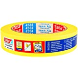 tesa 4334 Precise Edge Indoor Masking Tape, 5 Months Residue Free Removal, 25mm x 50m