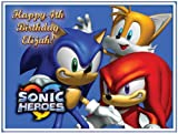 "Single Source Party Supplies - Sonic the Hedgehog Cake Edible Icing Image #1 8.25"" - Round"