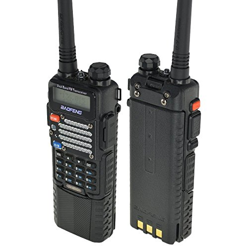 Lowest Prices! Baofeng UV-5R V2+ w/ 3800mah Extended Battery Dual-Band 136-174/400-480 MHz FM Ham Tw...