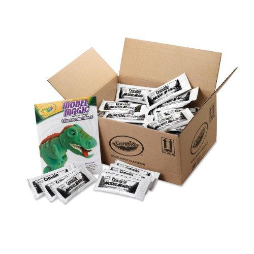 Crayola 23-6001 Model Magic Modeling Compound Class Pack, White, 1-oz. Pouches, 75/Carton