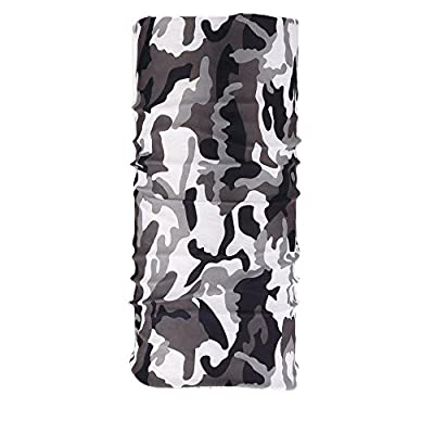 Kalily Versatile 16-in-1 Lightweight Sports & Casual Camo Headwear Headband Bandana Neck Gaiter, Balaclava, Helmet Liner, Face Mask for Outdoor Hunting, Fishing, Paintball Party