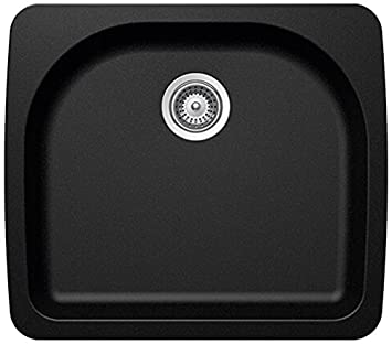 SCHOCK VALN100YU063 VALLEY Series CRISTALITE Undermount Single Bowl Kitchen Sink, Mocha
