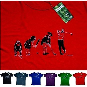 Cadeau pour les golfeurs, T-shirt en bambou et en coton biologique : S, rouge