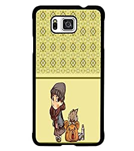 PrintDhaba Pattern D-4314 Back Case Cover for SAMSUNG GALAXY ALPHA (Multi-Coloured)