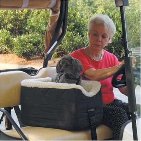 Snoozer Lookout Pet Golf Cart Seat, Small, Khaki Vinyl front-932596
