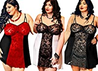 "Nine X - Seductive Lace Panel Babydoll S-6XL 8-26 ""Bridget"" Plus size Lingerie 2"