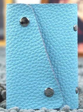 BG1177 Crocodile Pattern Buckle Embossed PU Leather Card Bag Clutch Bag (Blue Color)