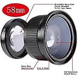 Neewer à Objectif Fisheye 58mm 0.35x Lentille Grand Angle avec Bouchon d'Objectif pour Canon EOS 700D 650D 600D 550D 500D 450D 400D 300D 100D 1000D 1100D/Rebel T5i T4i T3 T3i T2i T1i XTi XT XSi XS SL1 Nikon Sony Pentax Sigma et d'Autres Appareils Photo Reflex Caméscopes avec 58mm Filetage de Filtre