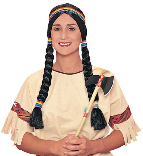 Original Adult Pocahontas wig with Braids - Fun with Indian Maiden Costumes