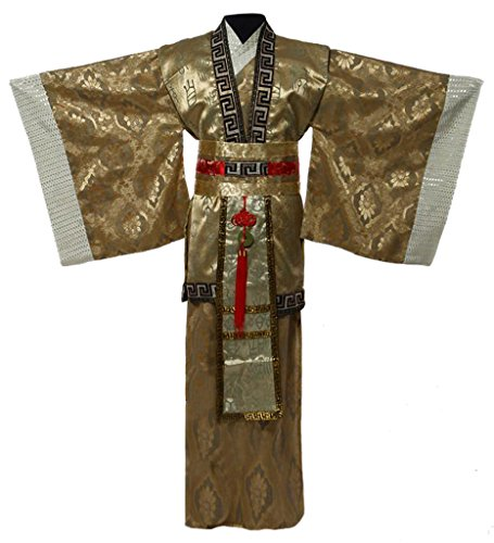 [Chinese Han Dynasty Minister's Costumes Dress Men's Halloween Cosplay HanFu] (Chinese Doll Halloween Costume)