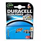 Duracell Ultra M3 MN2400 Battery Alkaline 1.5V AAA Ref 15071690 [and 4 FREE Pack 8]
