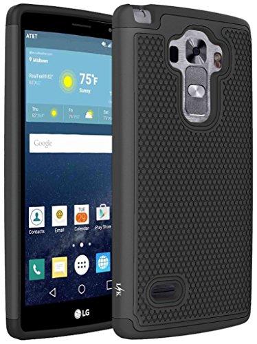 LG G Vista 2 Case, LK [Shock Absorption] Drop Protection Hybrid Dual Layer Armor Defender Protective Case Cover for LG G Vista 2 (Black) (Phone Case For Vista Lg compare prices)