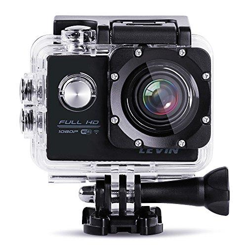 LEVIN 防水 スポーツカメラ 1080P フルHD 1200万画素 デュ...