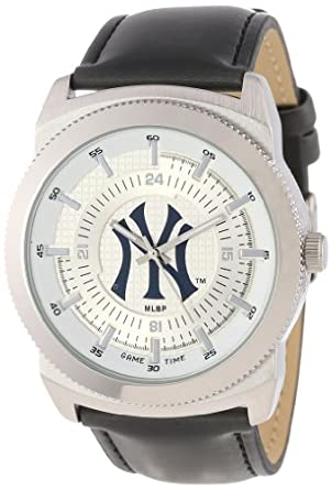 Game Time Mens MLB-VIN-NY3 Vintage MLB Series New York Yankee Pinstripe Logo 3-Hand... by Game Time
