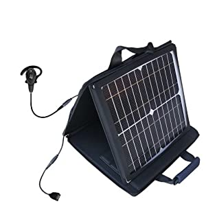 Motorola h710 compatible SunVolt Portable High Power Solar Charger by Gomadic - Outlet- speed charge for multiple gadgets