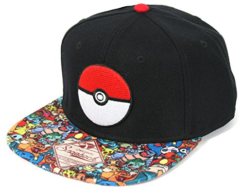 Pokemon- Pokeball Sublimated Snapback Hat Size ONE SIZE