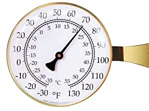 Vermont Large Dial Thermometer Color: Brass