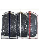 Hangerworld - Lot de 12 Housses de Protection pour Vêtements - Transparentes - Zip Colorés - 100 x 60 cm